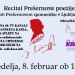 Tomorrow: Live Webcast of Prešeren Recital