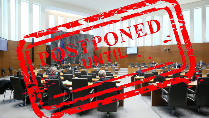 Slovenian parliament did not debate the no-confidence motion against PM Janez Janša this week.