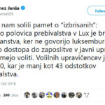 Bashing Luxembourg, Janša Goes Off At The Deep End