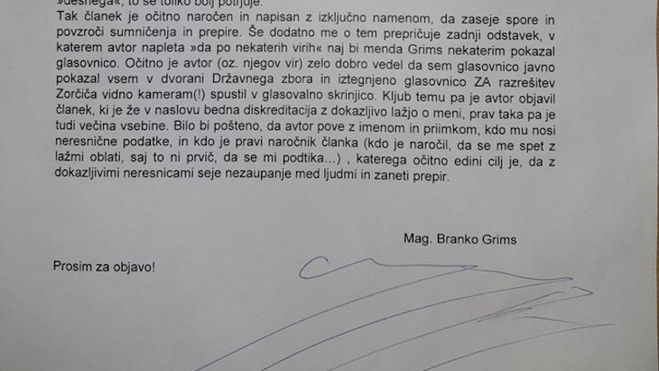 PM Janša's party is rallying troops and trying to avoid a factional split by warning against civil war and communism.